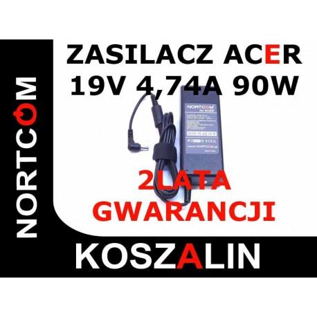 Zasilacz Acer 19V 4,74A  90W  NIEBIESKA KOŃCÓWKA