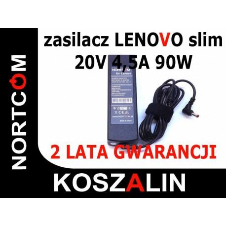 Zasliacz NORTCOM Lenovo Slim 20V 4,5A 90W Jak Oryginalny